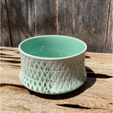 Seafoam Diamond Dish Planter - Medium