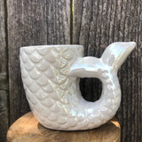 Opalescent Mermaid Tail Planter