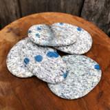 K2 Stone Polished Pocket Stone (azurite in granite)