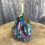 Titanium Dark Rainbow Aura Quartz