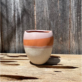 Desert Sunset Striped Mini Planter