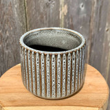 Industrial Ribbed Ceramic Planter