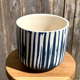 Blue Stripe Planter