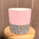 Pink & Bronze Textured Planter