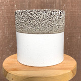 White & Bronze Textured Planter