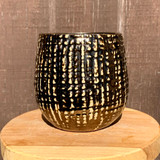 Grooved Bronze Planter