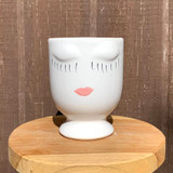 Sleeping Beauty Planter - Cream