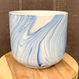 Blue & White Marbled Planter