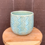Mint Patterned Planter