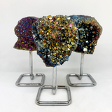 Titanium Aura Quartz Cluster on Stand