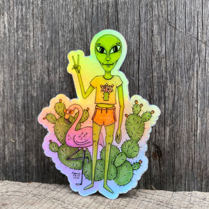 Babelien Holographic Sticker