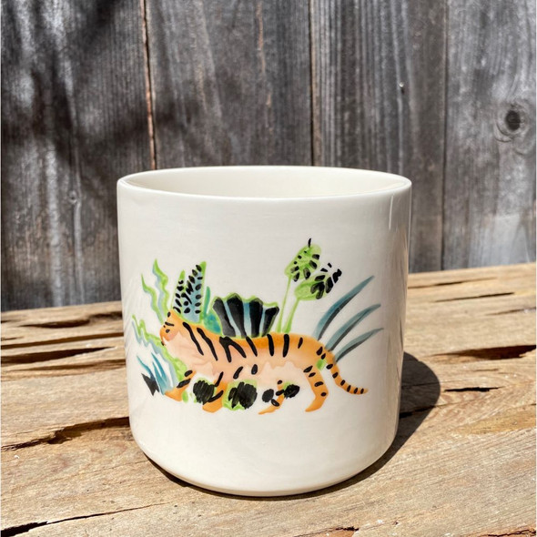 Welcome To The Jungle Tiger Planter