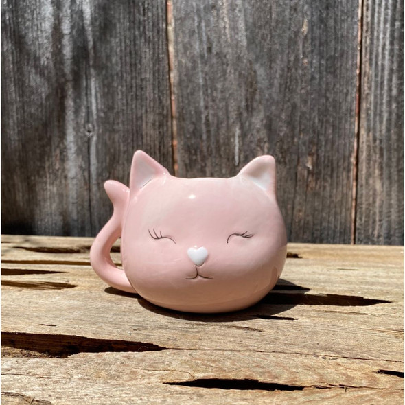 Precious Pink Kitty Planter