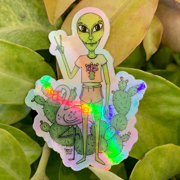 Babelien Holographic Sticker for sale East Austin Succulents