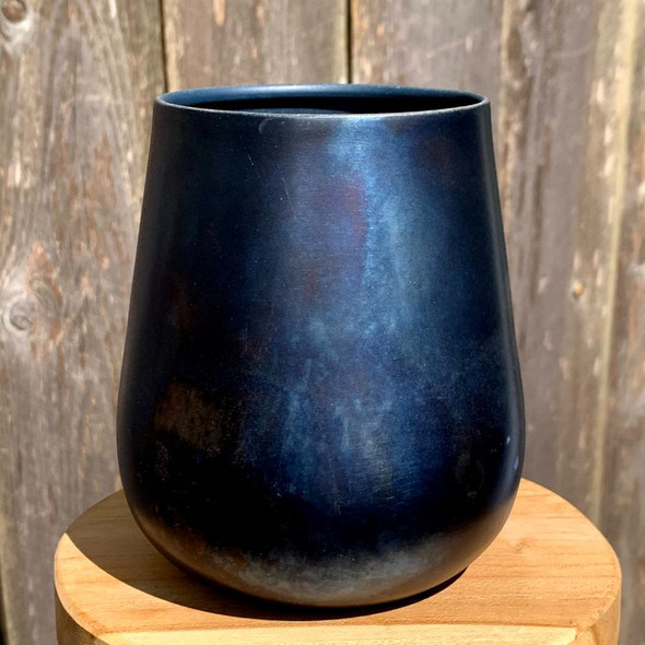 Black & Blue Metallic Planter