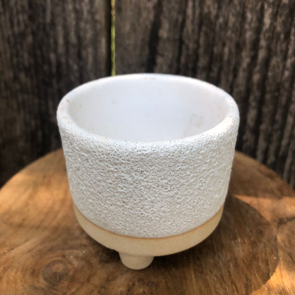 Creamy Mini Footed Planter