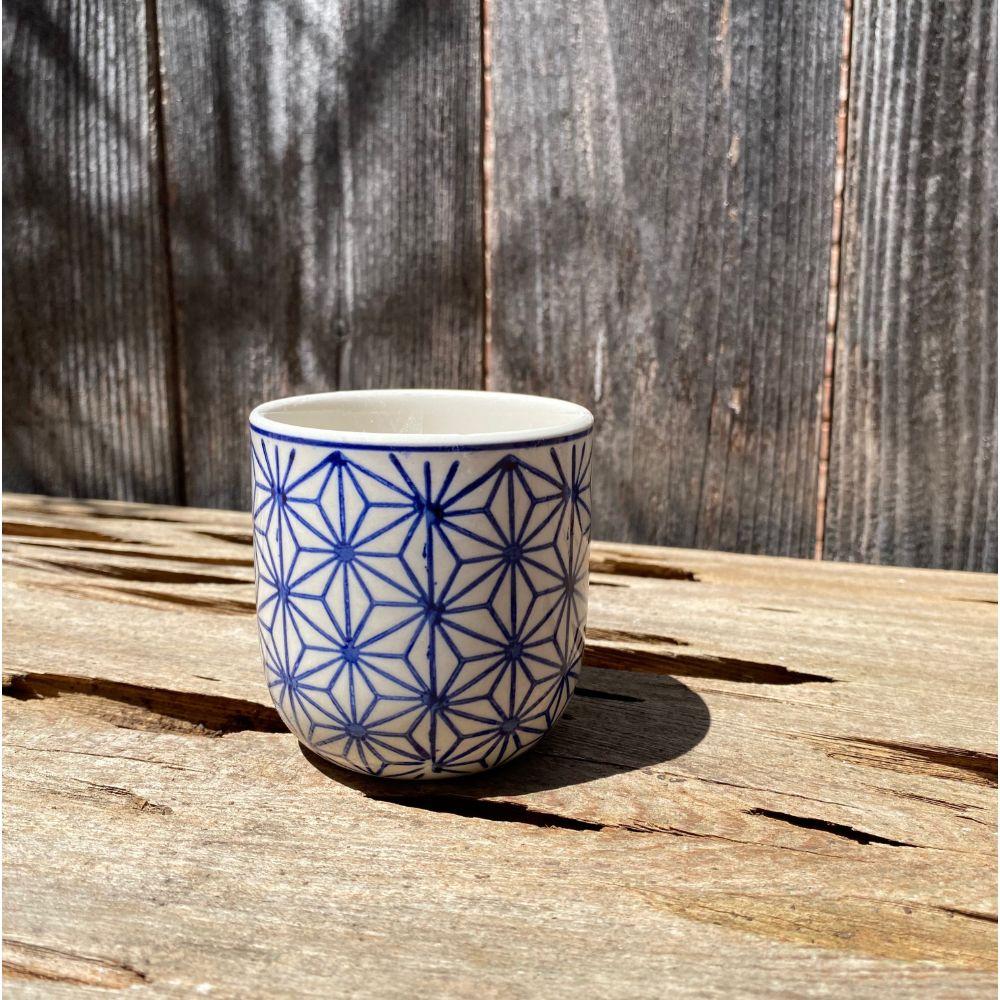 Blue & White Asanoha [Hemp] Mini Planter