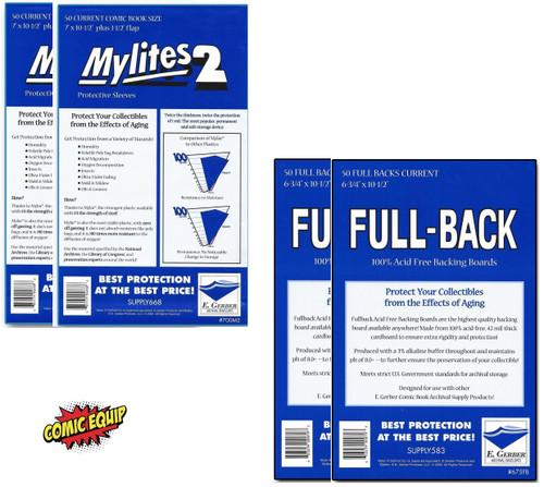 E.Gerber Current size Mylites2  & Full Back Combo Set