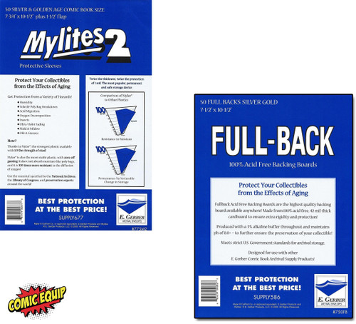 50 - MYLITES 2 SILVER/ GOLD & 50 - FULL-BACK SILVER/ GOLD Boards