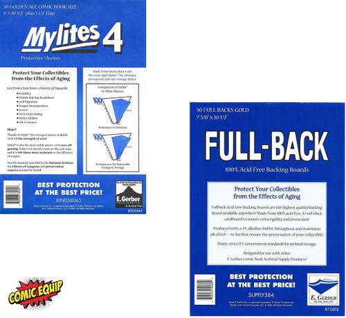 50 - MYLITES4 GOLD & 50 - FULL-BACK GOLD Boards