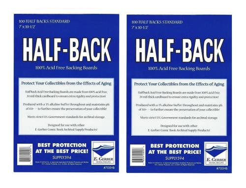 E. Gerber 200 Half Back STANDARD Size Comic Backing Boards