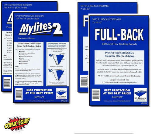 100 - MYLITES 2 STANDARD sleeves & 100 - FULL-BACK STANDARD Boards