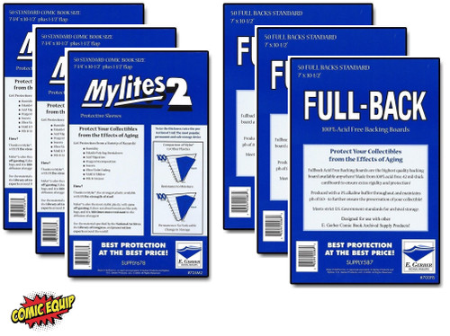 150 - MYLITES 2 STANDARD sleeves & 150 - FULL-BACK STANDARD Boards