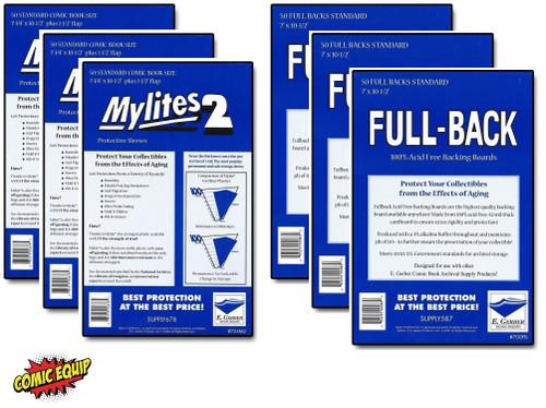150 - MYLITES 2 STANDARD sleeves & 150 - FULL-BACK STANDARD Boards