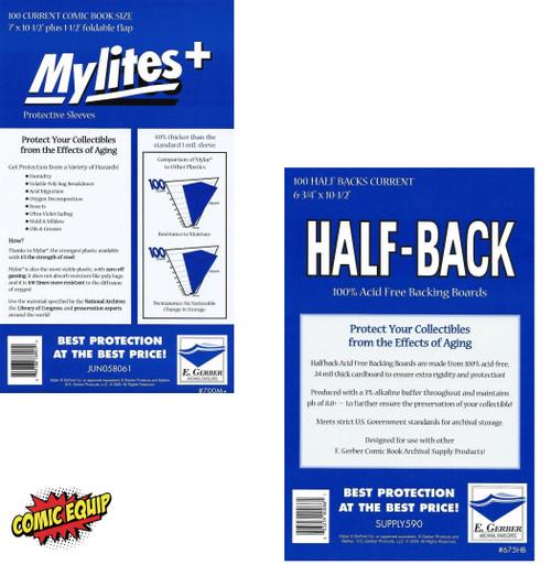 100 E. Gerber MYLITES+ CURRENT & 100 HALF-BACK CURRENT Boards