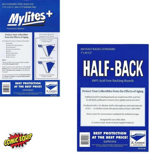 100 E . Gerber MYLITES+ STANDARD & 100 - HALF-BACK STANDARD Boards