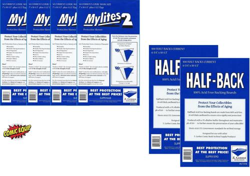 200 Mylites2 CURRENT Mylars Bags & 200 Half Back Comic Boards 700M2/675HB