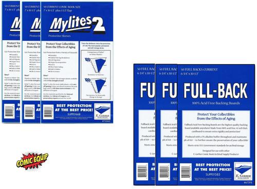 150 Mylites2 CURRENT Mylars & 150 Full Back Comic Boards 700M2/675FB E. Gerber