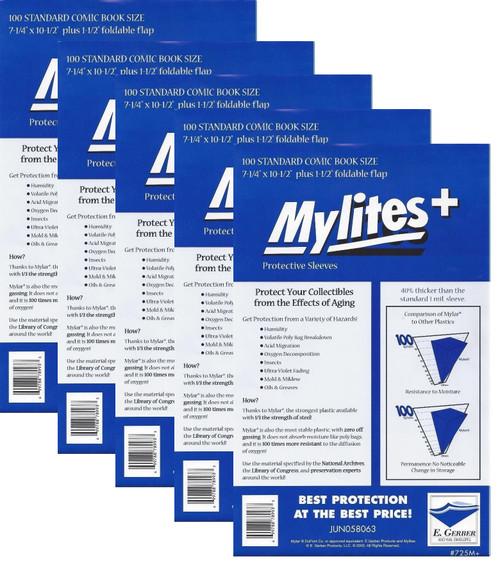 "E.Gerber Archives Standard 50 Pack 4-Mil Mylars 7-1//4/"" x 10-1//2/""  Non-Foldable"