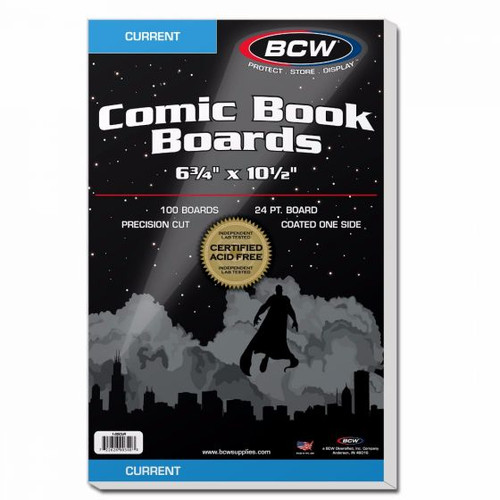 BCW 100 Current Comic Backing Boards