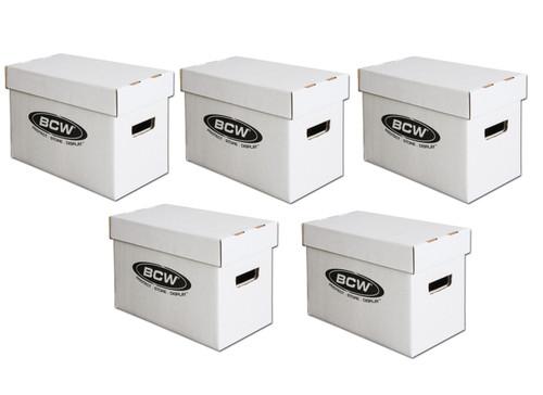 5 BCW Short Comic Book Storage Boxes