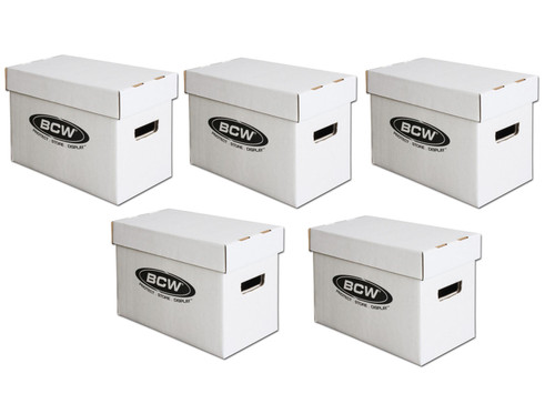 5 BCW Short Comic Book Storage Boxes