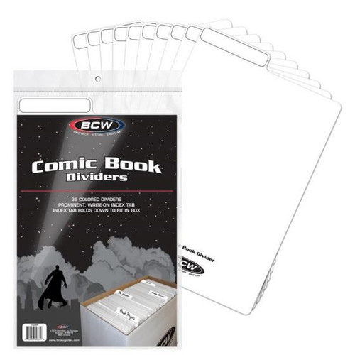 BCW 25 Comic Book Dividers - White