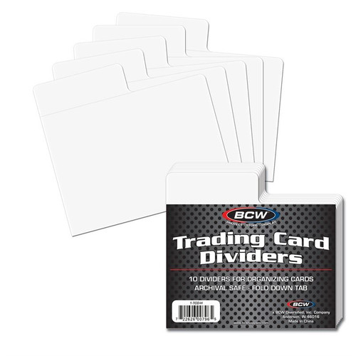 BCW Trading Card Dividers - Horizontal