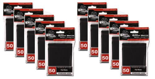 10 Pack MONSTER Flat Matte Large Card Sleeves