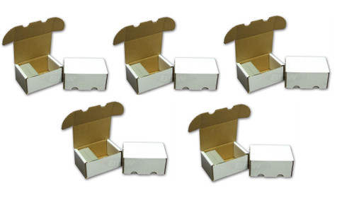 5 pack BCW 300 Count Card Storage Boxes