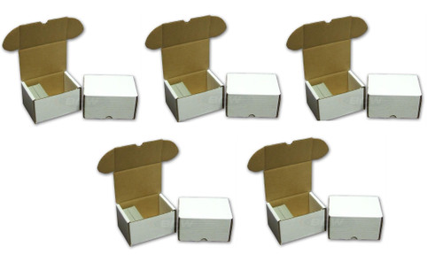 5 Pack BCW 330 Count Card Storage Boxes
