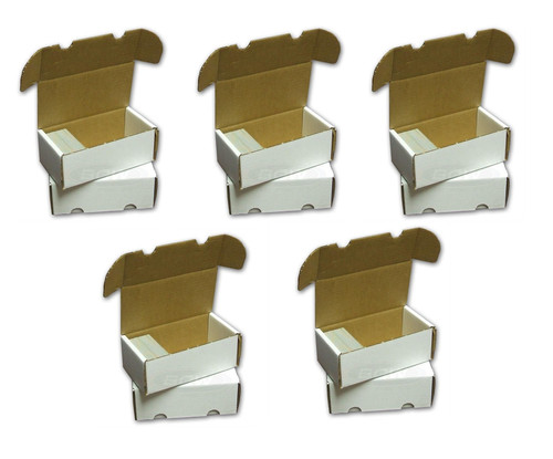 5 Pack BCW 400 Count Card Storage Boxes