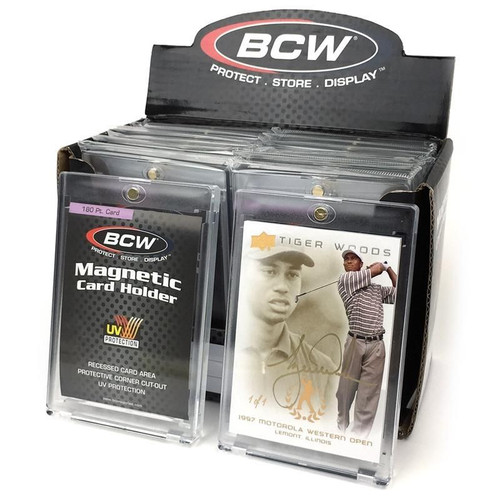 BCW Magnetic Trading Card Holder - 180 PT Thickness.