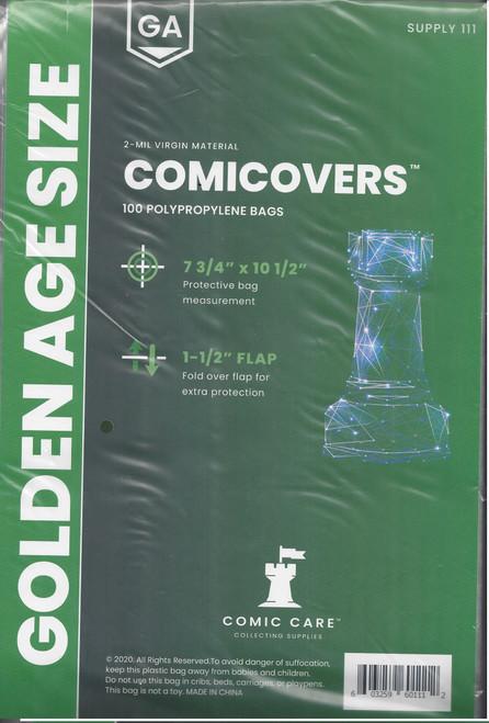 Comic Care Golden Comic Polypropylene Bags