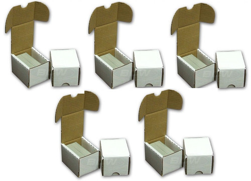 (5) BCW 100 Count Card Storage Boxes
