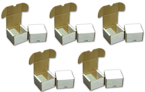 (5) BCW 200 Count Card Storage Boxes