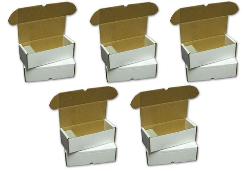 (5) BCW 500 Count Card Storage Boxes