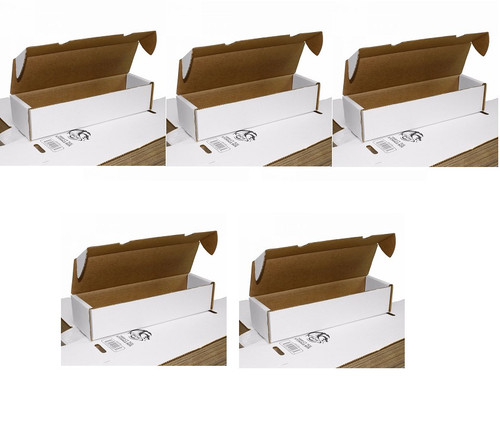 (5) BCW 1000 Count Gaming Card Storage Boxes