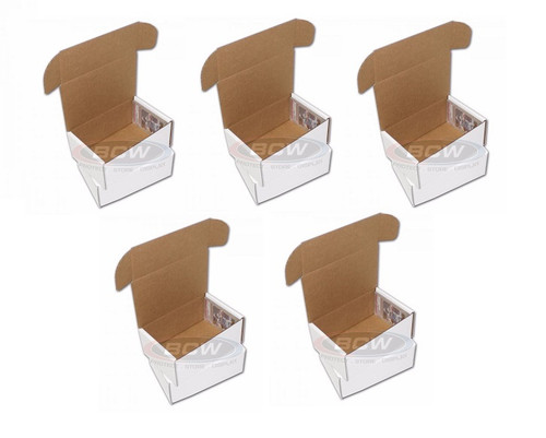(5) BCW Graded Trading Card Storage Boxes