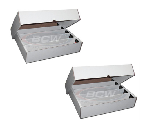 2 BCW 5000 Count Trading Card Storage Boxes (Full Lid)